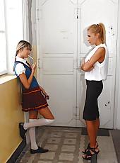 Schoolgirl gets caught smoking