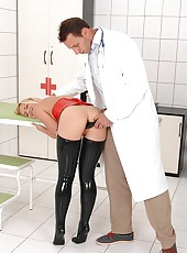 Naughty doctor Nick probes Kathia