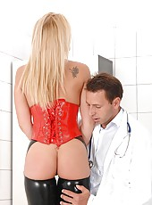 Doctor Nick Lang spanks his patient