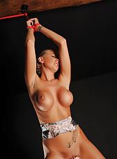 Stunning Danielle Maye takes a piss