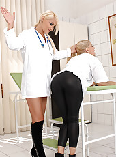 Naughty doctor dominating assistant