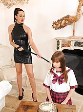 School girl Grace gets spanked hard