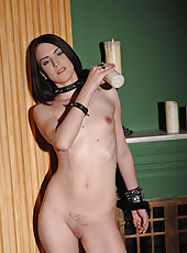 Newcomer cuffed and candle waxed