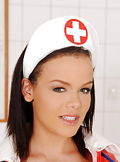 Deviant nurse fucks herself good!