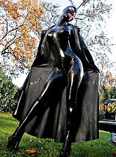 The newest latex kink super hero!