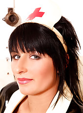 Nasty nurse Valerie vacuuming pussy