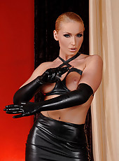 Kathia strict & beautiful in latex