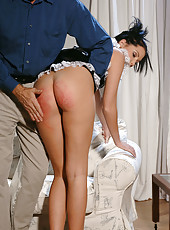 Maid Belicia gets her ass spanked