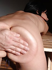 Bound babe Abbie Cat spanked hard