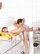 Male nurse abusing patient girl