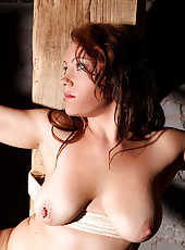 Hot redhead Severin bound & spanked