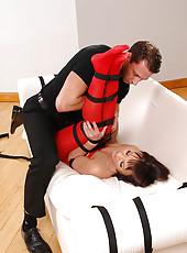 Hot Monika bound & hardcore fucked