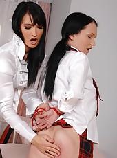 Bailey spanking schoolgirl Anabella