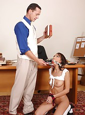 Sexy Abelia punished in her asshole