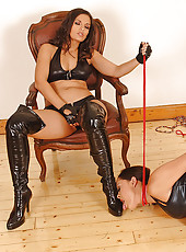 Sexy young babes playing bondage