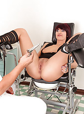 Lusty babe Jenni examined by doctor