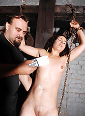 Bound babe Bianka whipped & waxed