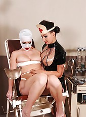 Nasty nurse Sandy & bound Janette