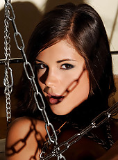 Sexy Little Caprice bound in chains
