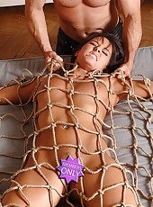 Young Melanie Memphis gets bound