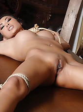 Sophie Moone toying bound Danika