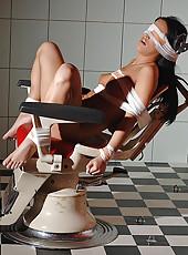 Lesbian bondage & anal insertion