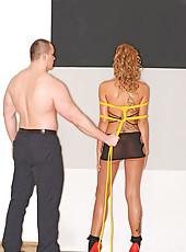 Bondage lesson with sexy Ava Blue