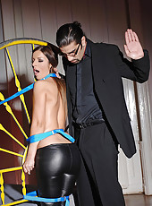 Hot bound Debbie White gets spanked
