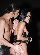 Slim bound babe Liz gets spanked