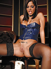 Black Angelica playing with hot wax