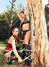 Aria & Jelena having bondage sex