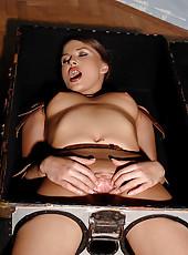 Kinky Rebecca gets bound & fucked