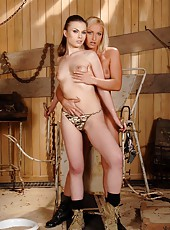 Hot lesbians in wild ass-fisting