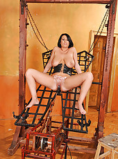 Busty LaTaya Roxx fucked in chains