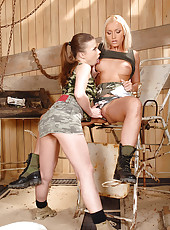 Wild lesbian fisting with hot babes