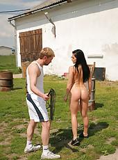 Sexy Aletta gets spanked & whipped