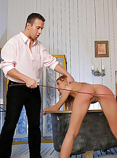 Sexy Crystal is spanked and caned
