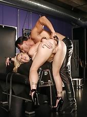 Adrianna in hardcore bondage action