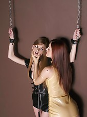 Latex clad Faye & Karli in BDSM fun