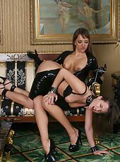 Hot strap on lesbian dom sub sex