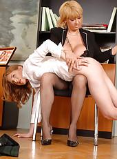 Naughty schoolgirl's ass spanked