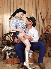 Blonde Cowgirl with Footjob Skills