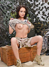 Sophie Lynx in Camouflage Pantyhose