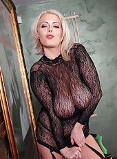 Lola Seduces In A Body Stocking