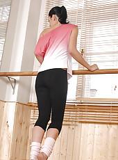 Sexy Ballerina Teasing In Tights