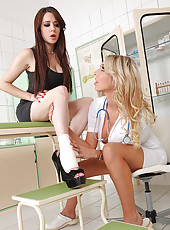 Doctor Probes Patient With Her Toes