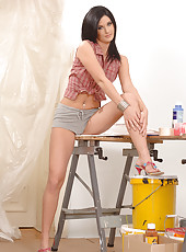 Getting Artistic With Her Barefeet