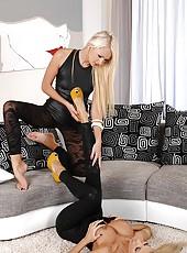Blonde leg fetish models fucking