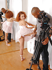 Pretty little redhead ballerina!