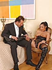 Hot Asian female in full command